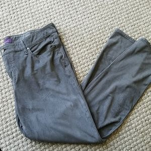 Gloria Vanderbilt Bridget Soft Suede Gray Pants